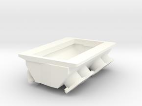 Brodix 1/8 BBC blower manifold in White Processed Versatile Plastic