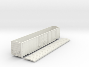 60-foot Gunderson Express boxcar Nscale 6040Series in White Natural Versatile Plastic