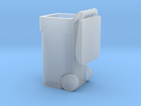 Trash Cart 64 gal Lid Open- HO 87:1 Scale in Smooth Fine Detail Plastic