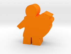 Game Piece, Ancient Worker with Vase in Orange Processed Versatile Plastic