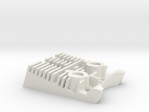 Debgar Engine in White Natural Versatile Plastic