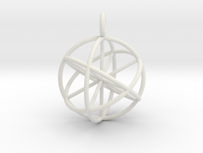 seed of life 30mm thin lines in White Natural Versatile Plastic