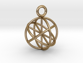 Seed of Life Genesa Sphere 20mm and 30mm in Polished Gold Steel: Medium
