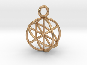 Seed of Life Pendant 20mm  in Natural Bronze
