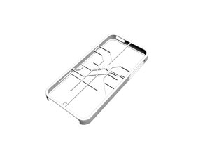 LA Metro Rail map iPhone 5s case in White Strong & Flexible