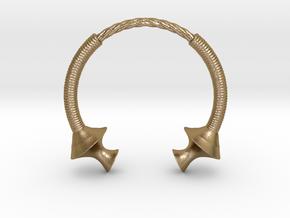 Torque Bracelet  in Polished Gold Steel