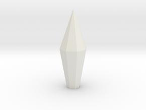 Necron Monolith Crystal Replacement Alternative #2 in White Natural Versatile Plastic