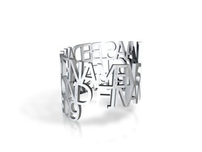 Ring Poem kLAAS2 in White Strong & Flexible