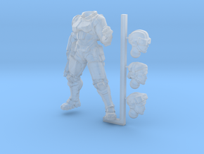 captain in Smooth Fine Detail Plastic