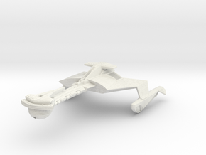 Klingon Muduq Class III  WarDestroyer in White Natural Versatile Plastic