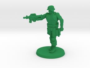 Urban Defense Force Hero in Green Processed Versatile Plastic