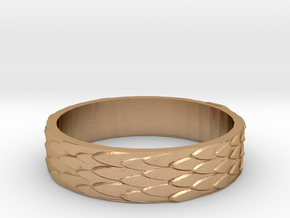 Celtic Dragon Scale Ring (Female version) in Natural Bronze: 7.5 / 55.5