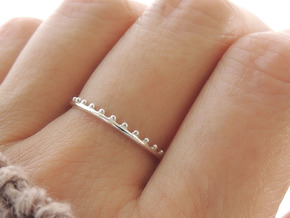 Dainty Beaded Edge Ring (Multiple Sizes) in Polished Silver: 6 / 51.5