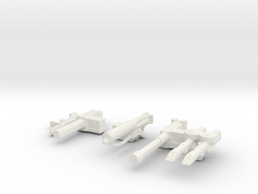 LRDG SAS guns 1/56 in White Natural Versatile Plastic