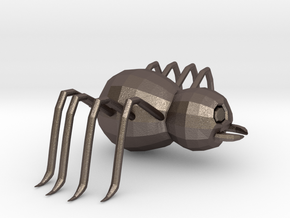 Cartoon Spider  in Polished Bronzed-Silver Steel: Extra Small