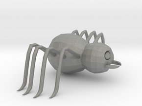 Cartoon Spider  in Gray PA12: Extra Small