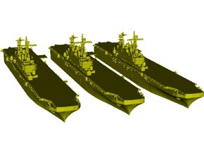 1/2000 scale USS Tarawa LHA-1 assault ships x 3 in Smooth Fine Detail Plastic