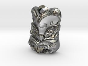 New Zealand Maori pendant  in Polished Silver