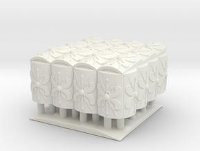 roman Testudo  4x4  1/72 in White Natural Versatile Plastic