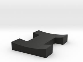 H-key in Black Natural Versatile Plastic