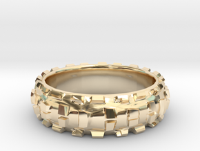 Downhill II Ring in 14k Gold Plated Brass: 9 / 59