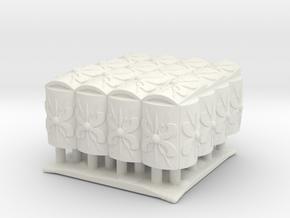 Roman Testudo  4x4  1/144 in White Natural Versatile Plastic