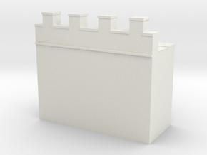 Roman hadrian's wall 1/285 6mm in White Natural Versatile Plastic
