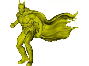1/75 scale Batman superhero figure in Smoothest Fine Detail Plastic