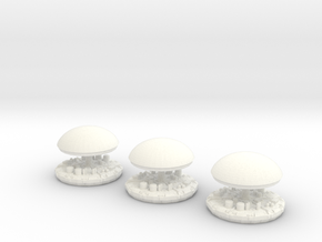 Dome and top 3 pack in White Processed Versatile Plastic