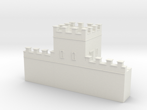 Roman hadrian's wall tower 1/144 in White Natural Versatile Plastic