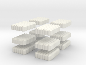 Roman Testudo   6x8 1/144 x 12 in White Natural Versatile Plastic