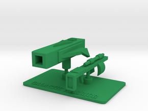Galactic Warrior Accessories in Green Processed Versatile Plastic