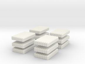 Roman Testudo   8 x 12 1/144 x 12 in White Natural Versatile Plastic