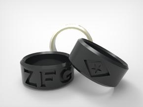 [Size 8] Zac Francis Garcia Remembrance Ring in Matte Black Steel