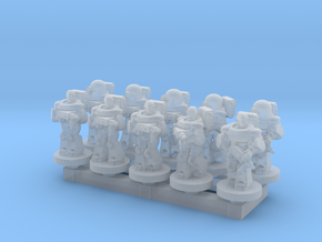 Space Army 10mm Set 1 in Smooth Fine Detail Plastic
