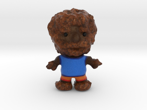 Wolfman Figurine in Natural Full Color Sandstone