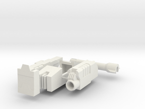 Comic Style Tank Turret MTMTE in White Natural Versatile Plastic