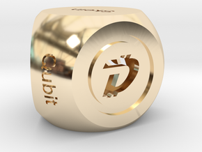DigiByte Algorithm D5 in 14k Gold Plated Brass