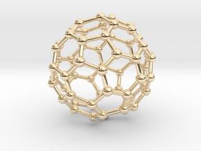 Buckministerfullerene Pendant in 14K Yellow Gold
