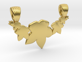Seven leafs [pendant] in Polished Brass