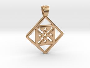 Antique square [pendant] in Polished Bronze