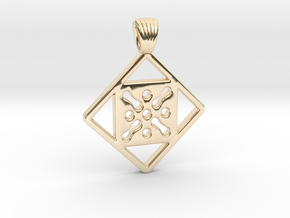 Antique square [pendant] in 14K Yellow Gold