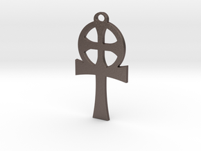 Abraxas Cross in Polished Bronzed-Silver Steel