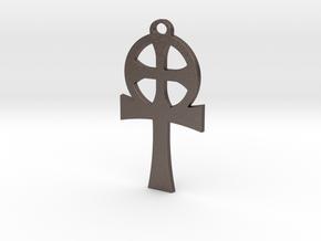 Abraxas Cross in Polished Bronzed-Silver Steel