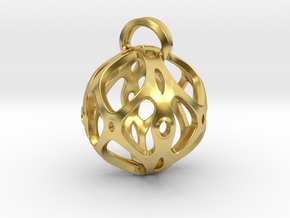 View of spherical games - part four. Pendant in Polished Brass