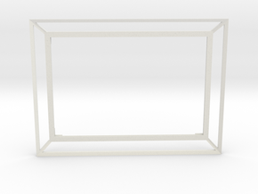 3D Photo Frame (4x6 inches) in White Natural Versatile Plastic