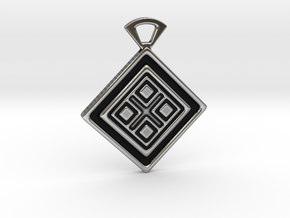 Four elements. Pendant in Antique Silver