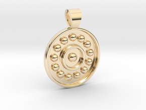 Antique solar system [pendant] in 14K Yellow Gold