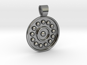 Antique solar system [pendant] in Polished Silver