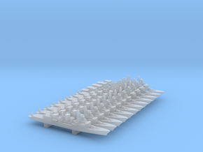 Type F70 Series Destroyers, 12Pcs, 1/6000 in Smooth Fine Detail Plastic